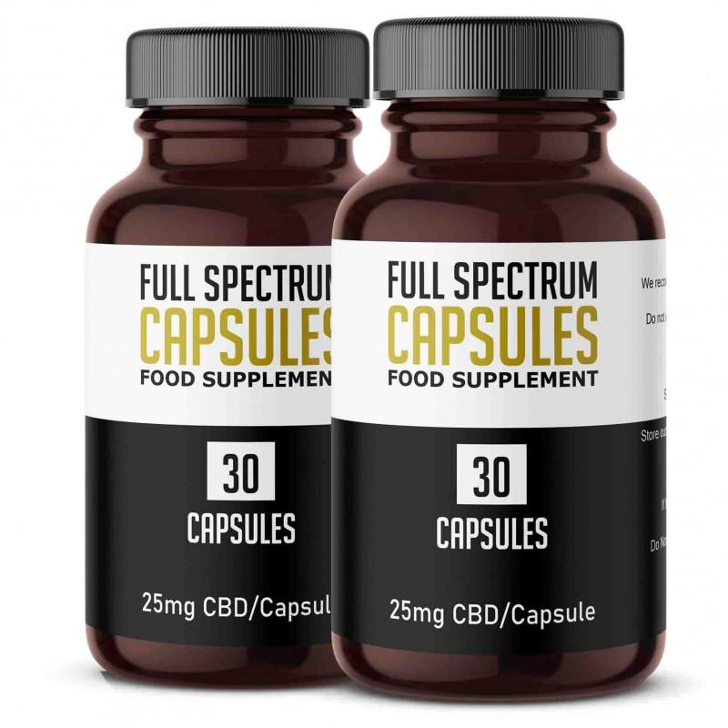 Full Spectrum CBD Gel Capsule Twin Pack